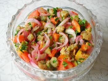 Салат из баклажанов. Легкое, вкусное и бюджетное блюдо