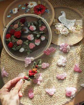 Прозрачная вышивка от российской художницы