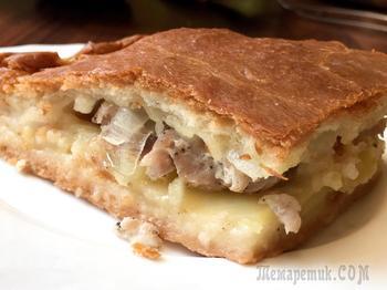 Пирог с картошкой и мясом