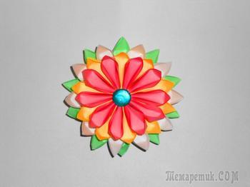 Цветок из бумаги. Оригами поделки из модулей.