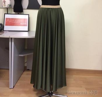 Как сшить шёлковую юбку-солнце на резинке