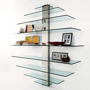 Оригинальные стеклянные полки, как изюминка домашнего интерьера