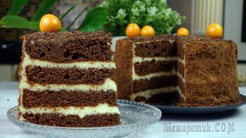 Торт бисквитный шоколадный. Очень вкусный!