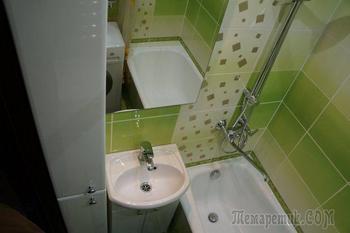 Сочно-позитивная и музыкальная ванная комната