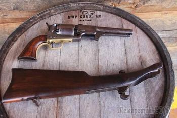 Краткая история пистолетов-карабинов, Colt Dragoon с отъёмным прикладом