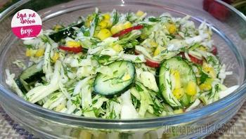 Быстренький салат за пару минут, ничего не нужно варить!