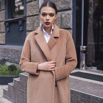 Модное пальто из альпака