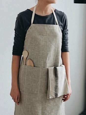 Стильный передник для кухни своими руками