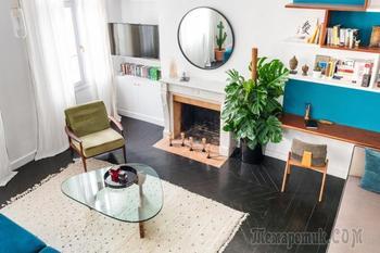Пол черного цвета: выбор материала, дизайна, сочетание с потолком и стенами