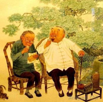 Китайский художник Се Юсу (Xie Yousu). С любовью и улыбкой!