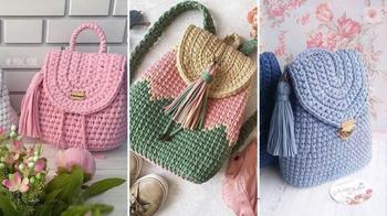 Стильные вязаные рюкзаки