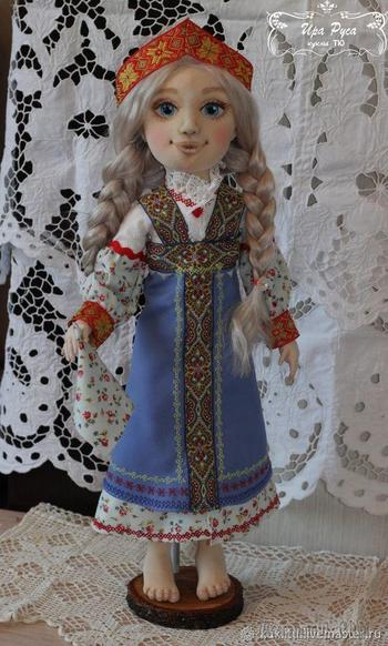 Шьем куколку Настеньку из «Сказа о Ясном Соколе»: подробный мастер-класс
