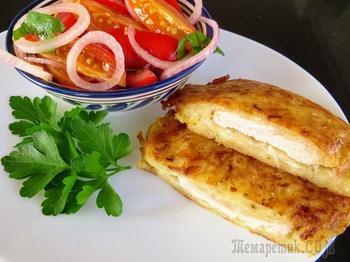 Куриная грудка в картофельной шубке / Такое филе вы будете готовить каждый день!