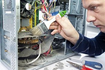 Чистка компьютера от пыли в домашних условиях