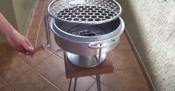 Мастерим мангал-барбекю из тормозного барабана авто