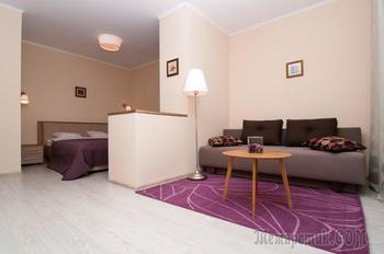 Уютный дизайн квартиры 44 кв. м. в бежевых тонах