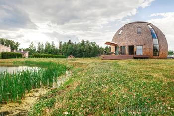 Купольный дом у воды 240 м2, в Подмосковье
