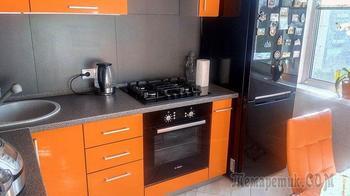 """Кухня: семь """"квадратов"""" оранжевого"""