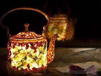 Мастер-класс: делаем необычный чайник-светильник из папье-маше