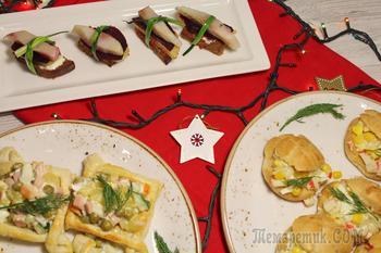 3 блюда на праздничный стол. Меню на новый год 2019.