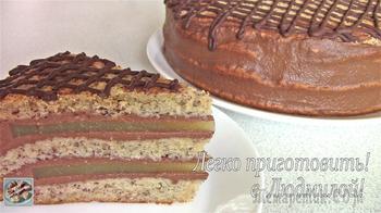 Постный, вегетарианский торт Банан-Апельсин-Шоколад