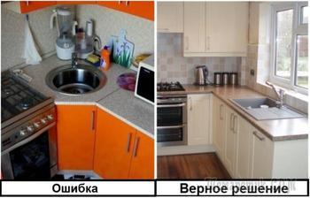 7 ошибок в оформлении угловой кухни, которые продлевают и усложняют процесс готовки