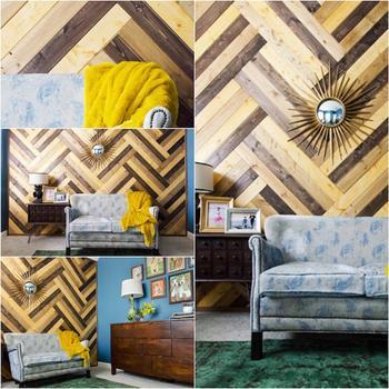 Идеи отделки стен с помощью древесины
