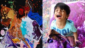 4-летний вундеркинд из Индии пишет картины, которые продаются за тысячи долларов