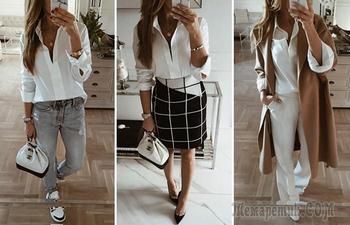 Как и с чем сочетать и носить белую рубашку: 6 оригинальных идей на каждый день