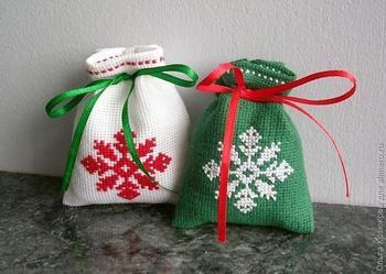 Мешочки для новогодних подарков своими руками