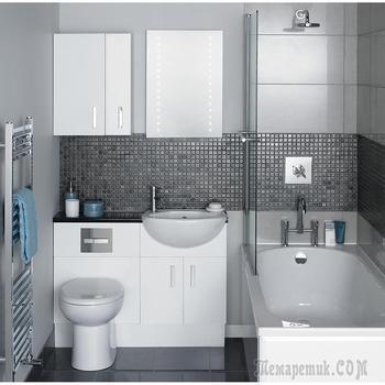 Идеальные интерьеры крохотных ванных комнат: лучшие идеи по оформлению