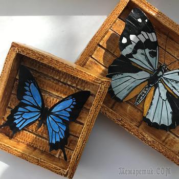 Панно с бабочками из картона и бумаги своими руками