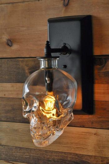 Идеи ламп из использованных бутылок