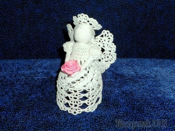 Рождественский ангел крючком Новогодние игрушки Амигуруми