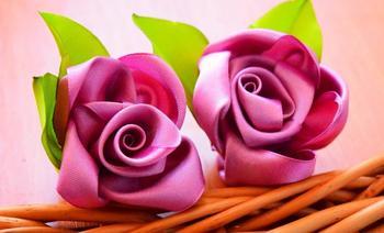 Атласные цветы своими руками — как создать красивый букет из текстиля