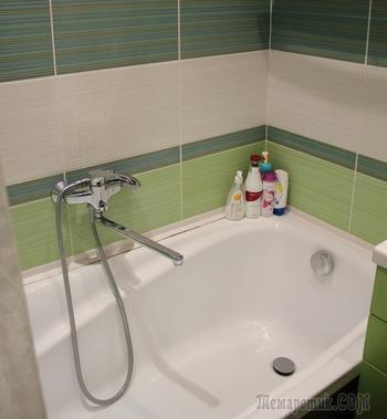 Пример бюджетного ремонта в ванной комнате