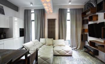 Апартаменты 60 м² в стиле лофт для молодой семьи