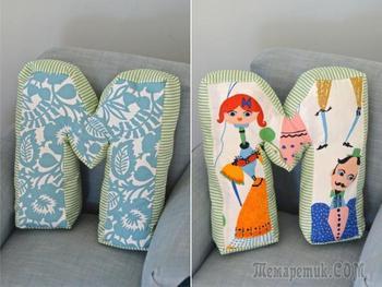 Шитье декоративных подушек