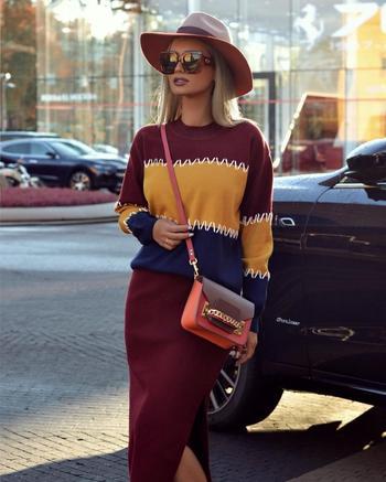 Стильные вязаные юбки