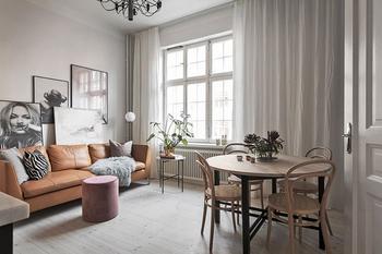Небольшая скандинавская квартира для девушки