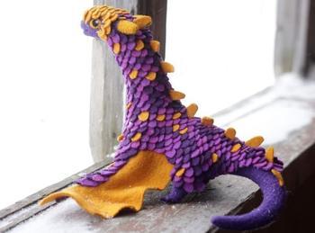 Шерстяные драконы от русской рукодельницы