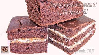 Бананово-шоколадный постный пирог