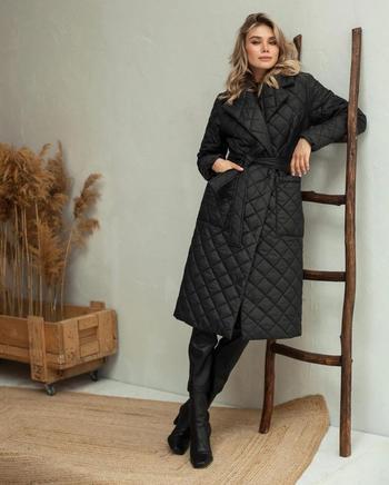 Как и с чем носить стёганое пальто