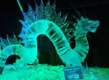 Ледяные фигуры (Петропавловская крепость.СПб)