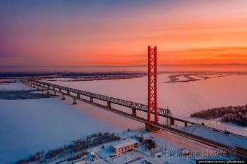 Зимний Сургут — столица нефти и газа