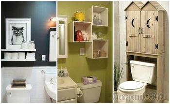 Хранение в туалете: примеры стильной организации пространства