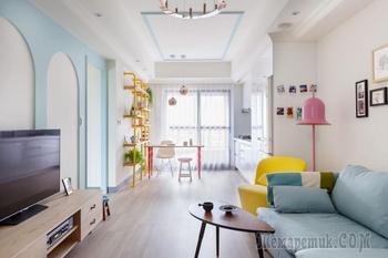 Мягкий цвет в дизайне интерьера. Гаосюн, Тайвань