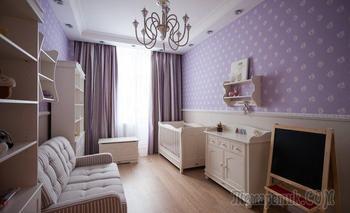 Нежная квартира на Крестовском острове для семьи с ребенком