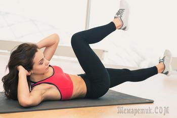 Топ-8 упражнений для плоского живота и стройных ног