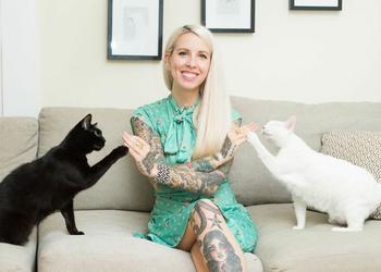 «Девушки и кошки»: фотограф из Нью-Йорка против стереотипов о сумасшедших кошатницах